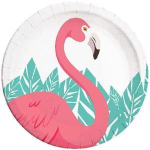 Pratos Flamingo, 23 cm, 8 unid.