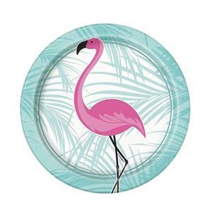 Pratos Flamingo Pequenos, 8 un