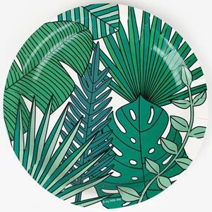 Pratos Folhas Tropicais Party, 23 cm, 8 unid.