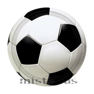 Pratos Futebol Pequeno, 8 unid