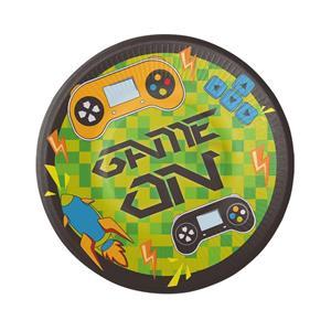 Pratos Gaming Party, 18 cm, 8 unid.