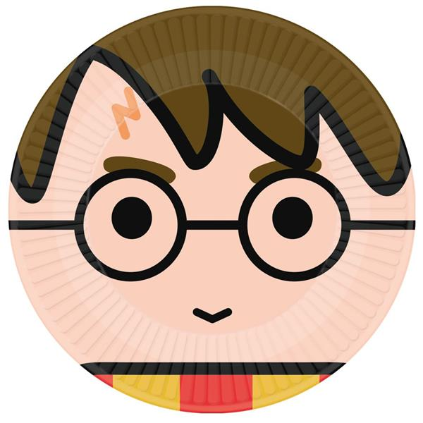 Pratos Harry Potter Chibi, 23 cm, 8 unid.