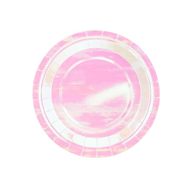 Pratos Iridescentes, 18 cm, 6 unid.