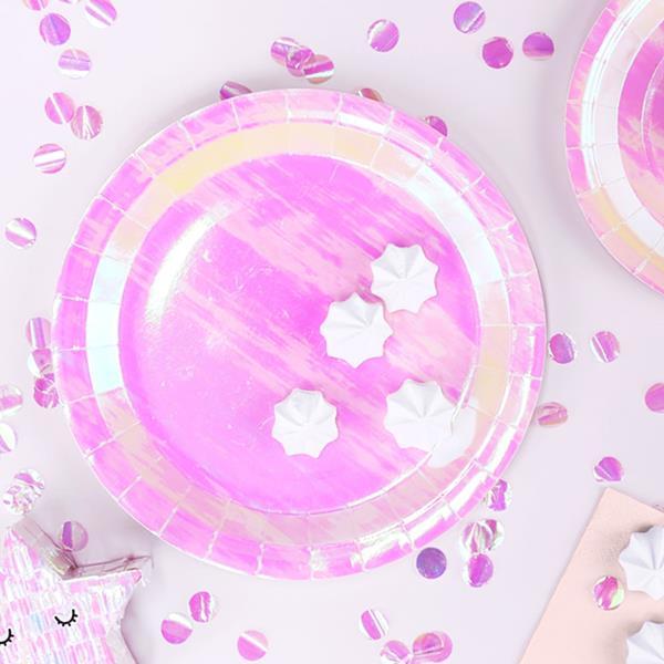 Pratos Iridescentes, 23 cm, 6 unid.