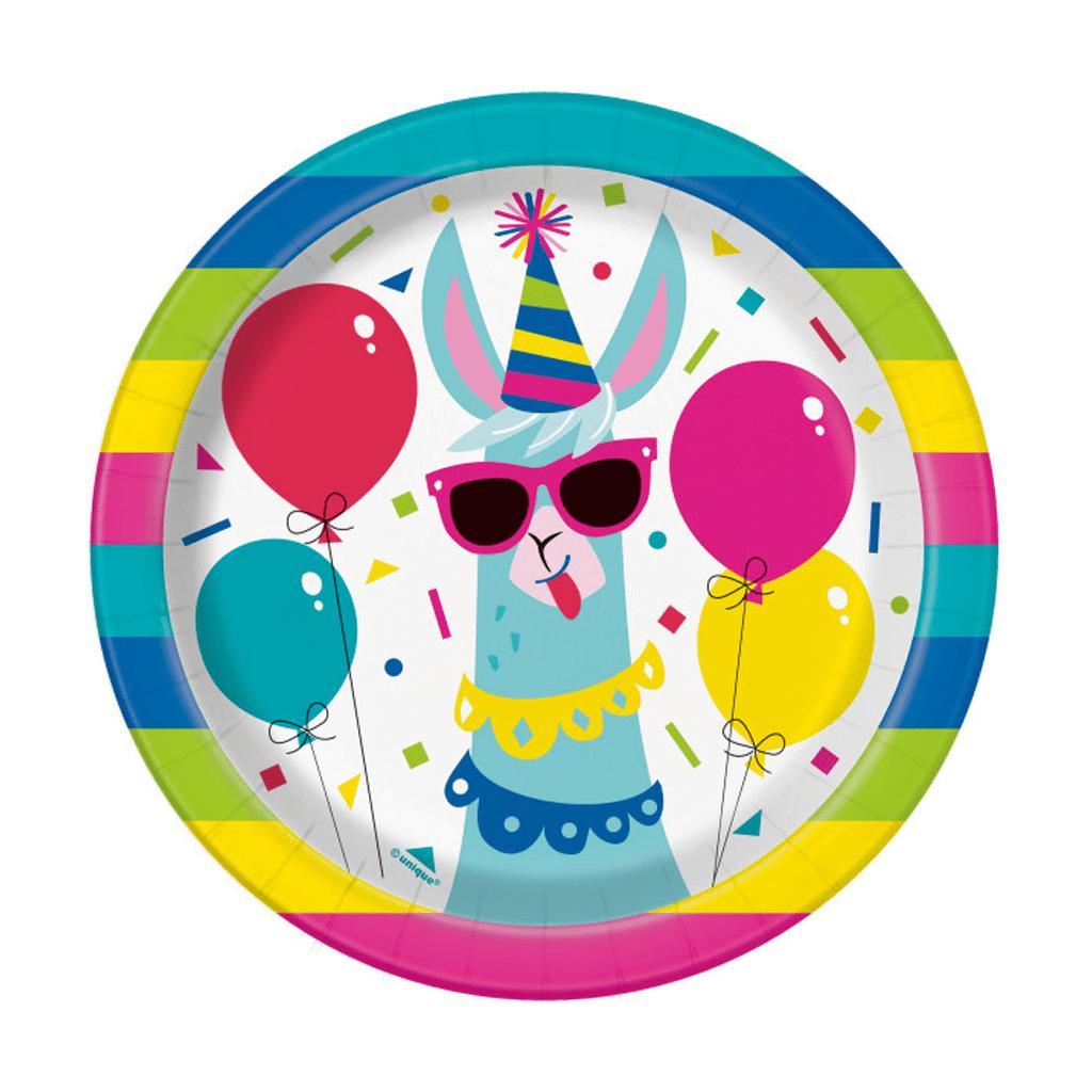Pratos Lama Birthday, 17 cm, 8 unid.