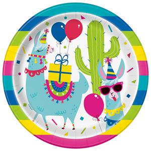 Pratos Lama Birthday, 22 cm, 8 unid.