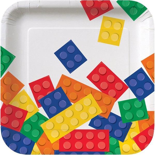 Pratos Lego Block Party, 17 cm, 8 unid.