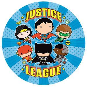 Pratos Liga da Justiça, 23 cm, 8 unid.