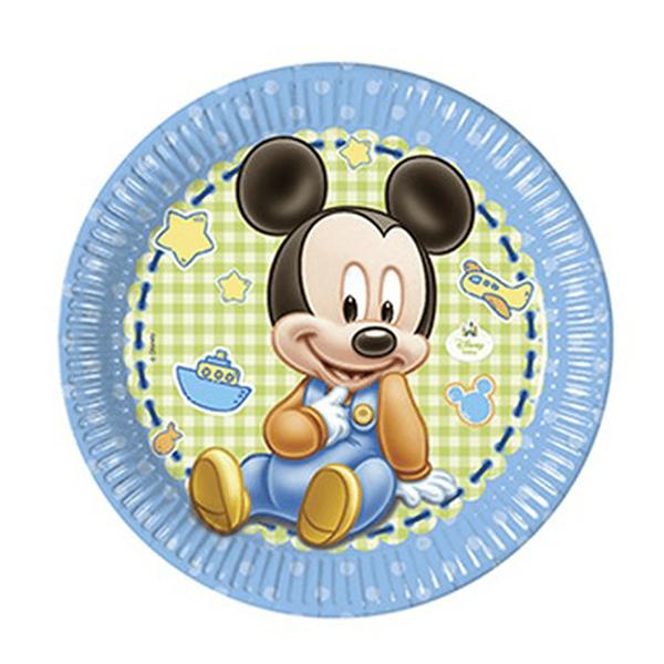 Pratos Mickey Bebé, 23cm
