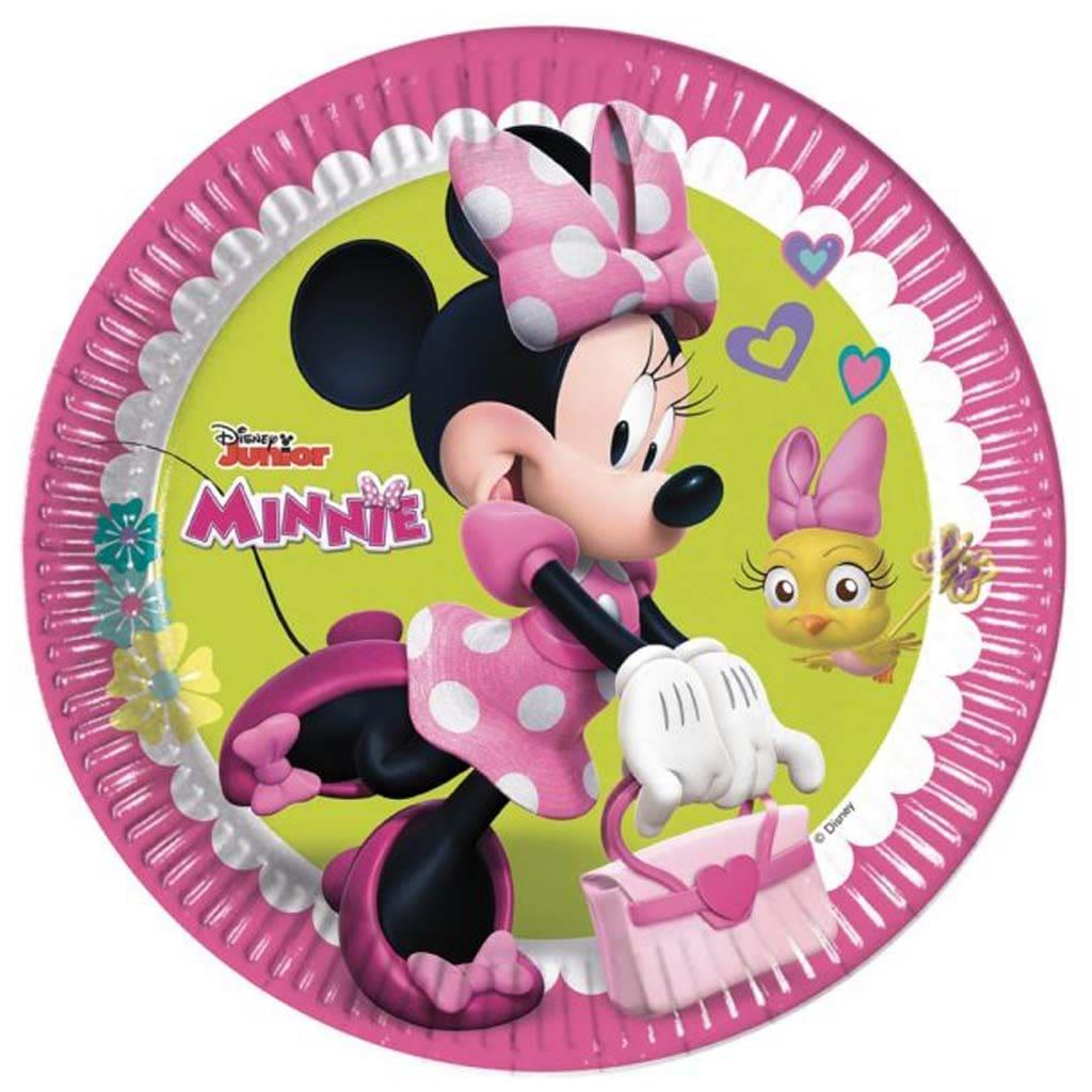 Pratos Minnie 8 unid