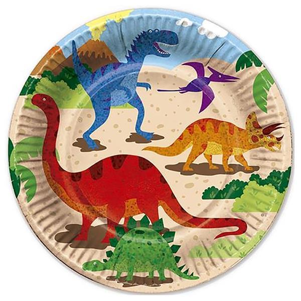 Pratos Mundo dos Dinossauros, 6 unid.