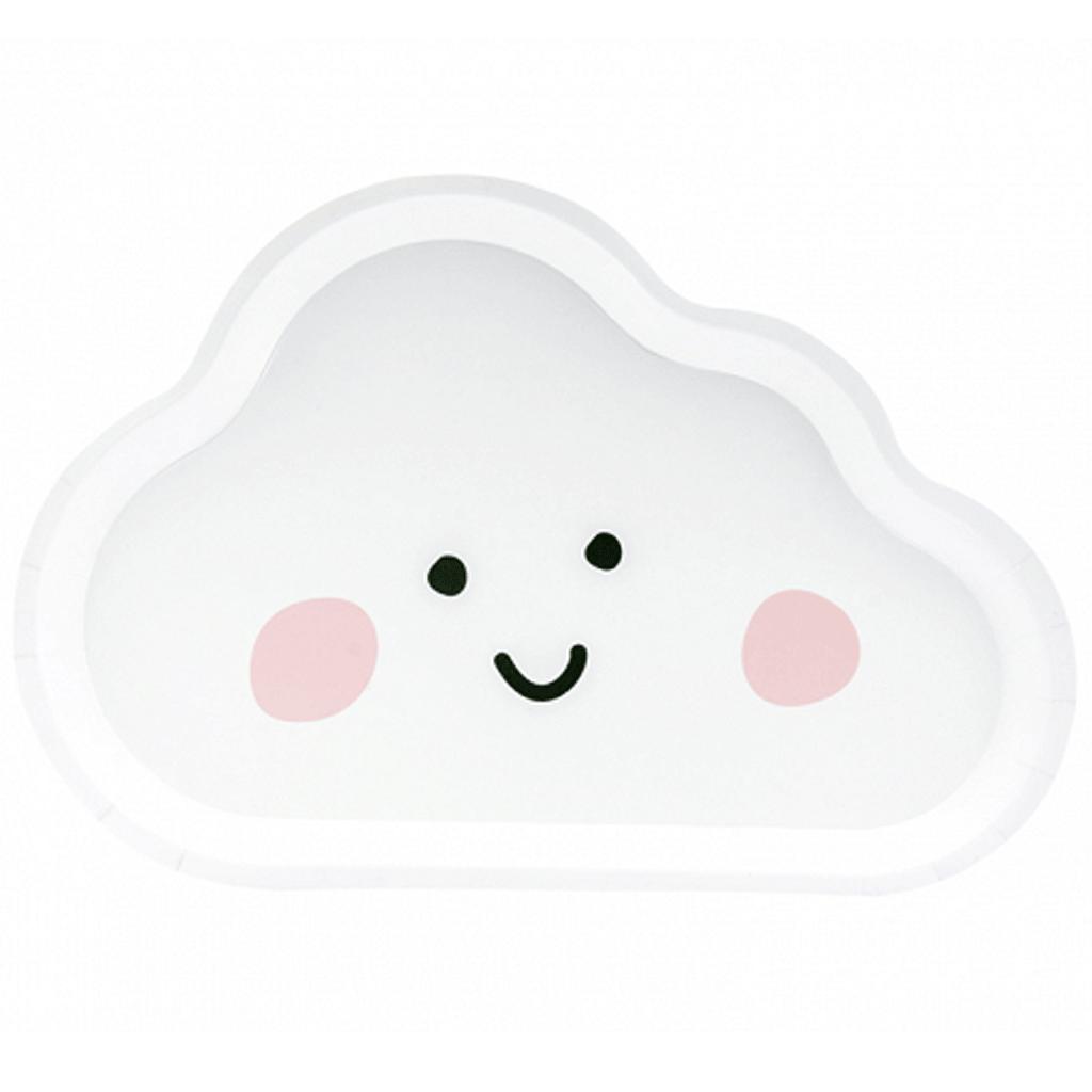 Pratos Nuvem, 26 cm, 6 unid.