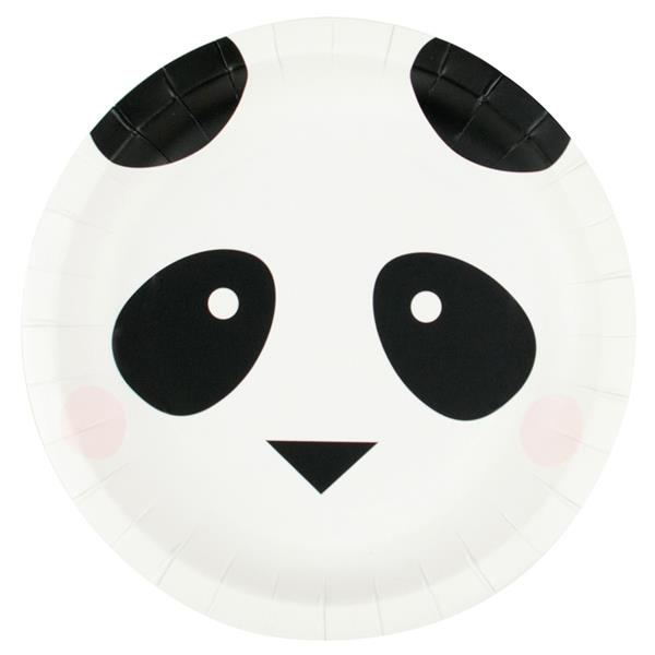 Pratos Panda Amoroso, 20 cm, 8 unid.