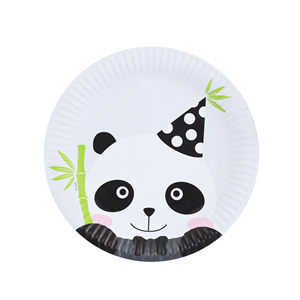 Pratos Panda Bebé, 18 cm, 6 unid.