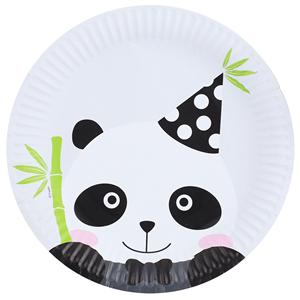 Pratos Panda Bebé, 23 cm, 6 unid.