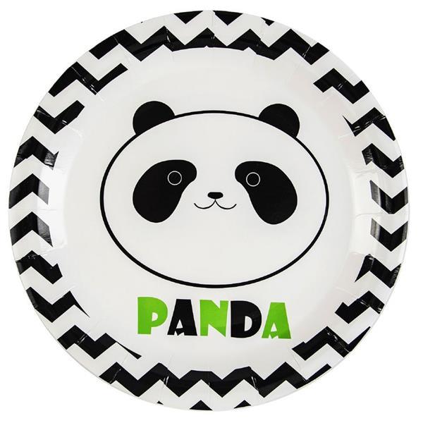 Pratos Panda Risonho, 23 cm, 6 unid.