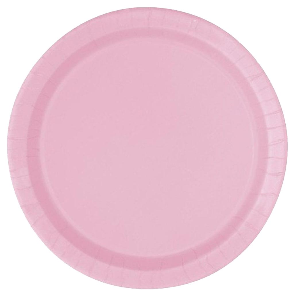 Pratos Rosa Claro 22 Cm, 16 Unid.