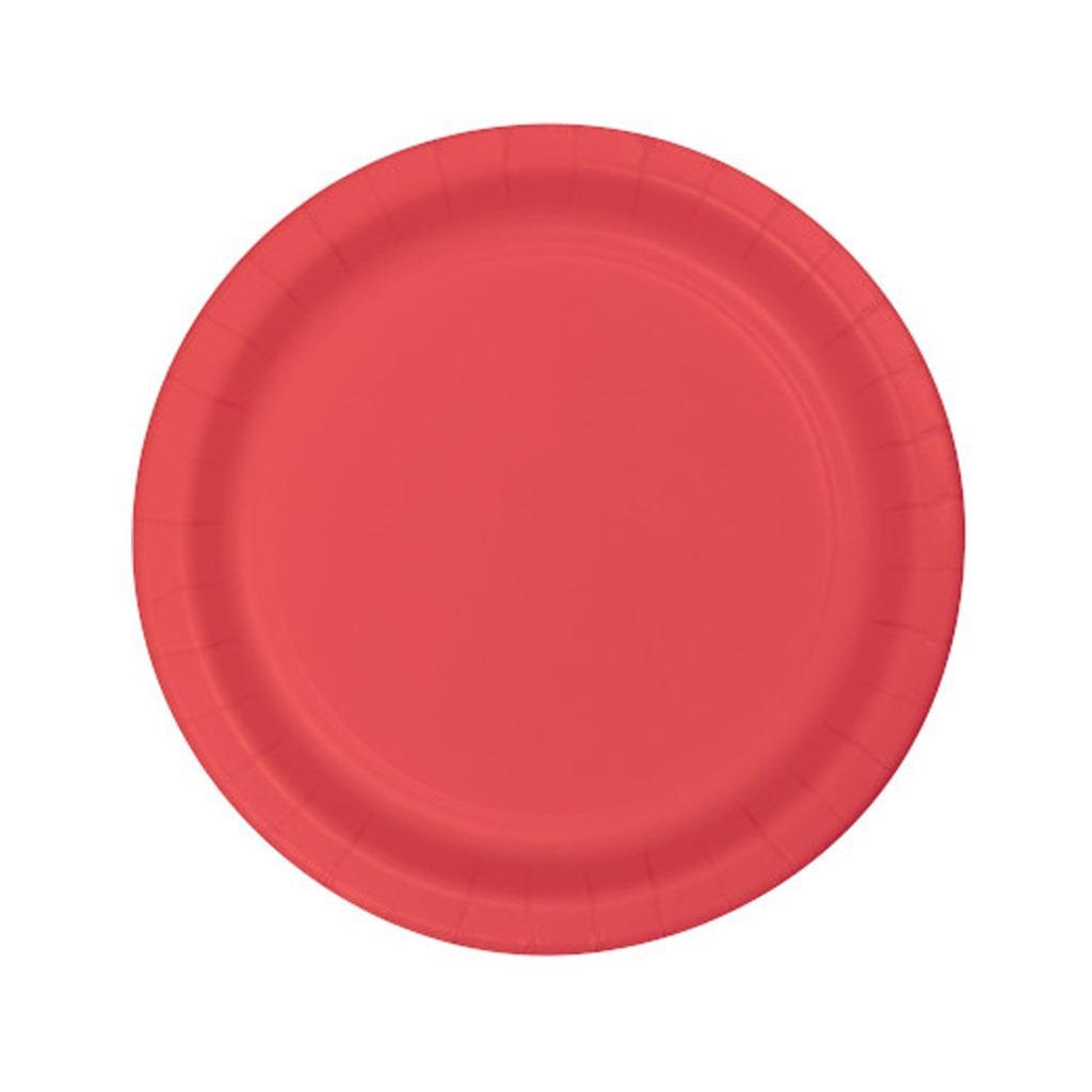Pratos Vermelhos 17 Cm, 20 Unid.