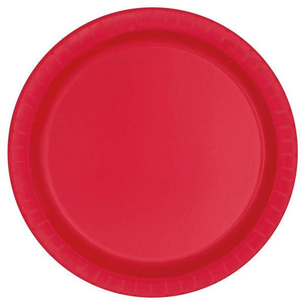 Pratos Vermelhos 22 Cm, 16 Unid.