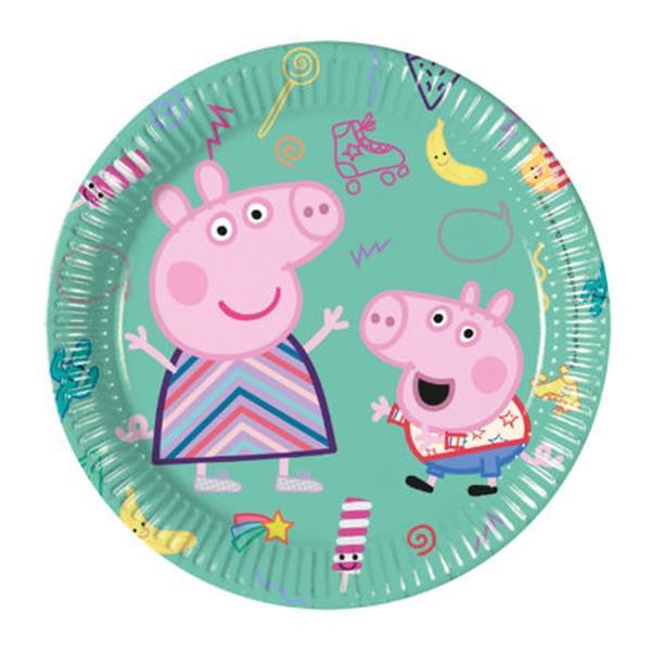 Pratos Peppa Pig, 20 cm, 8 unid.