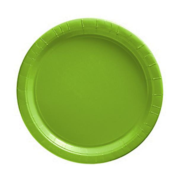 Pratos Pequenos Verdes Claros, 20 unid.