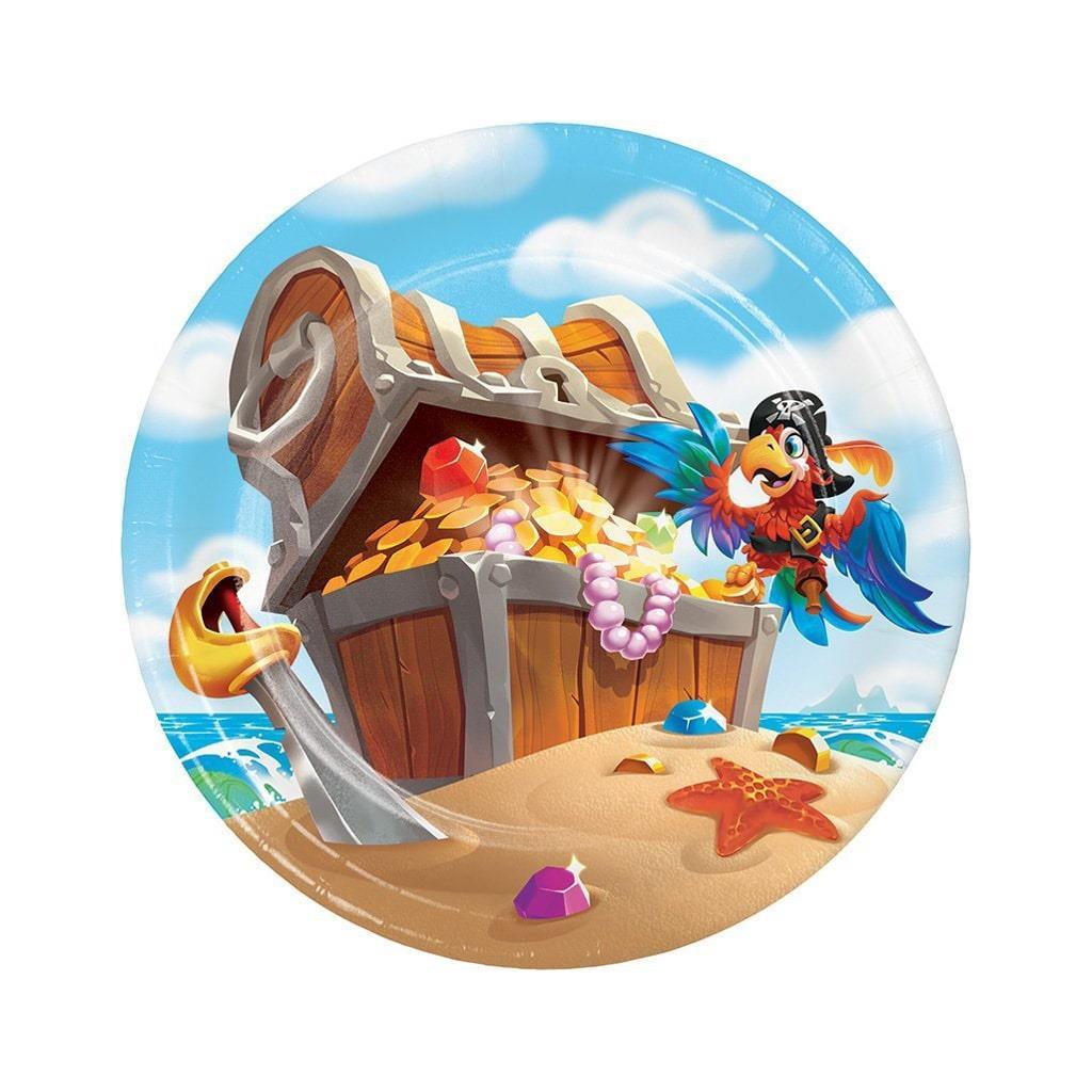 Pratos Pirata e o Tesouro, 18 cm, 8 unid.