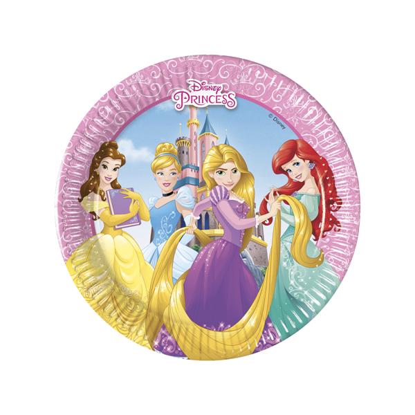 Pratos Princesas da Disney, 8 unid.