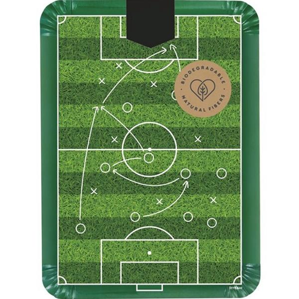Pratos Rectangulares Futebol, 34 cm, 2 unid.
