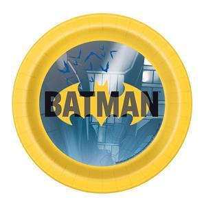 Pratos Super Herói Batman, 17 cm, 8 unid.