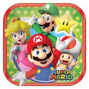 Pratos Super Mario, 17 cm, 8 unid.