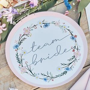 Pratos Team Bride Floral, 24 cm, 8 unid.