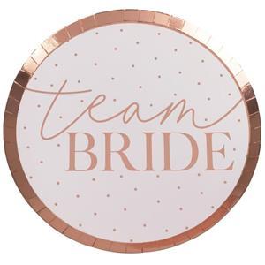 Pratos Team Bride Rosa Gold, 24 cm, 8 unid.