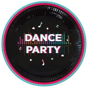Pratos Tik Tok Dance Party, 23 cm, 8 unid.