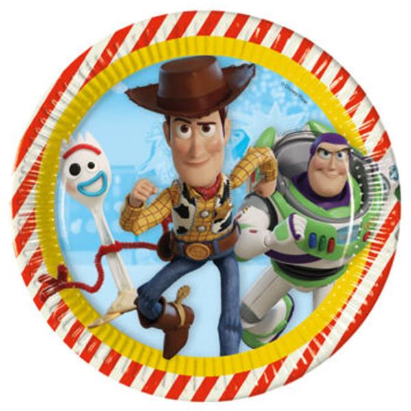 Pratos Toy Story, 23 cm, 8 unid.