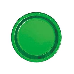 Pratos Verdes Metalizados, 8 Unid.
