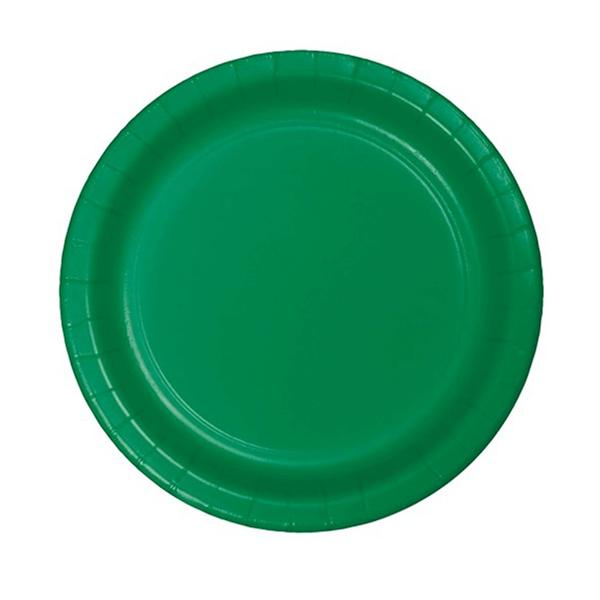 Pratos Verdes em Papel, 17 Cm, 20 unid.