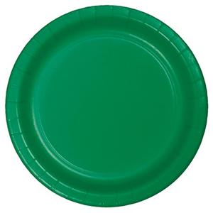 Pratos Verdes em Papel, 22 Cm, 16 unid.