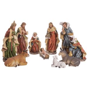 Presépio de Natal, Poliresina, 10 Figuras, 30 Cm
