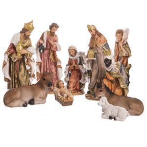 Presépio de Natal, Poliresina, 10 Figuras, 40 Cm