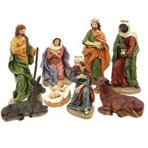 Presépio de Natal, Poliresina, 10 Figuras, 54 Cm