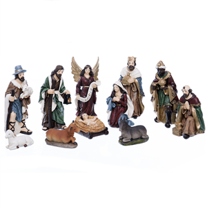Presépio de Natal, Poliresina, 11 Figuras, 12 Cm