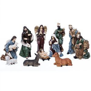 Presépio de Natal, Poliresina, 11 Figuras, 16 Cm