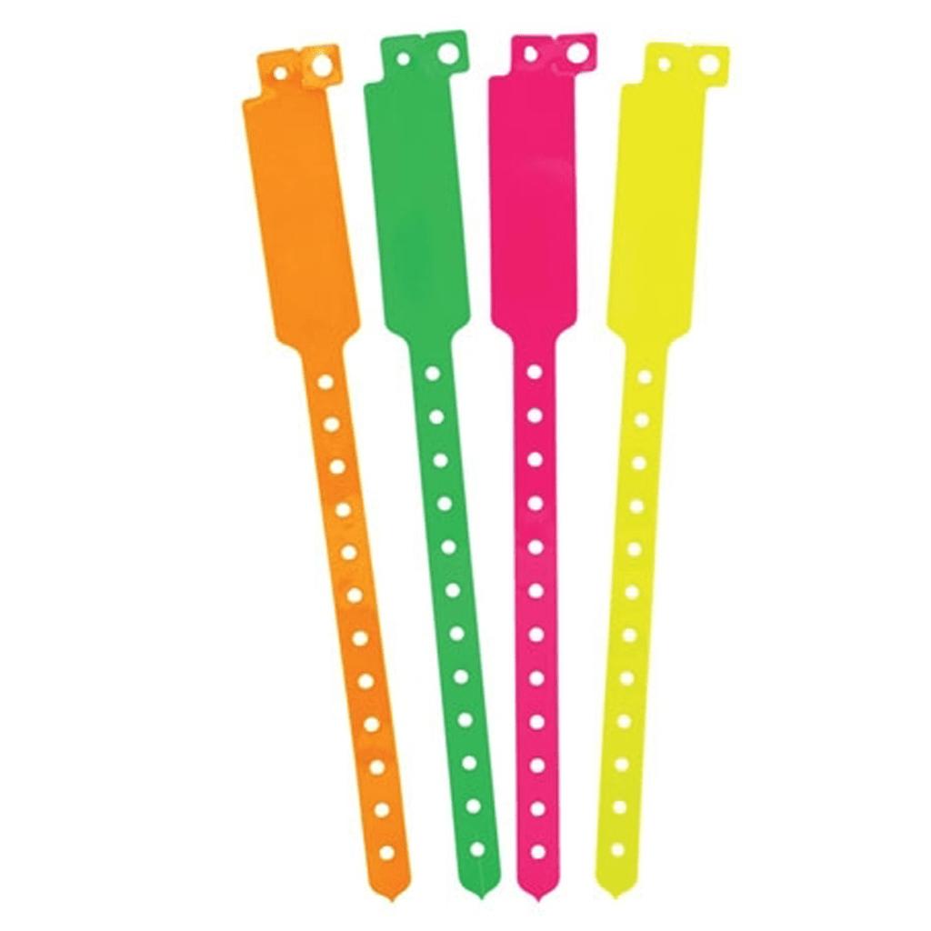 Pulseira Inviolável Fluorescente Plástico