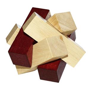 Puzzle 3D Madeira Blocos Sobrepostos