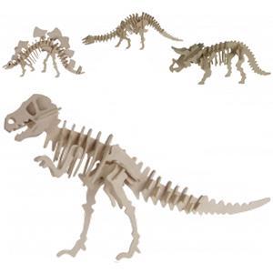 Puzzle 3D Madeira Esqueleto de Dinossauro