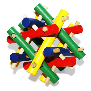 Puzzle 3D Madeira Sticks Coloridos