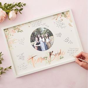 Quadro de Assinaturas Team Bride Floral
