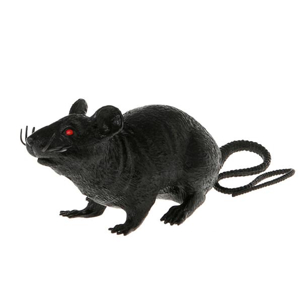Ratazana Preta em Plástico, 22 cm