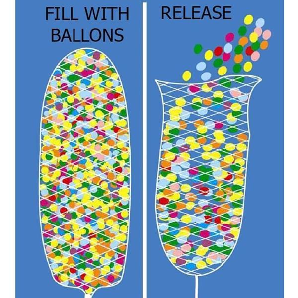 Rede Largada 1000 Balões Tecido Especial Fibra