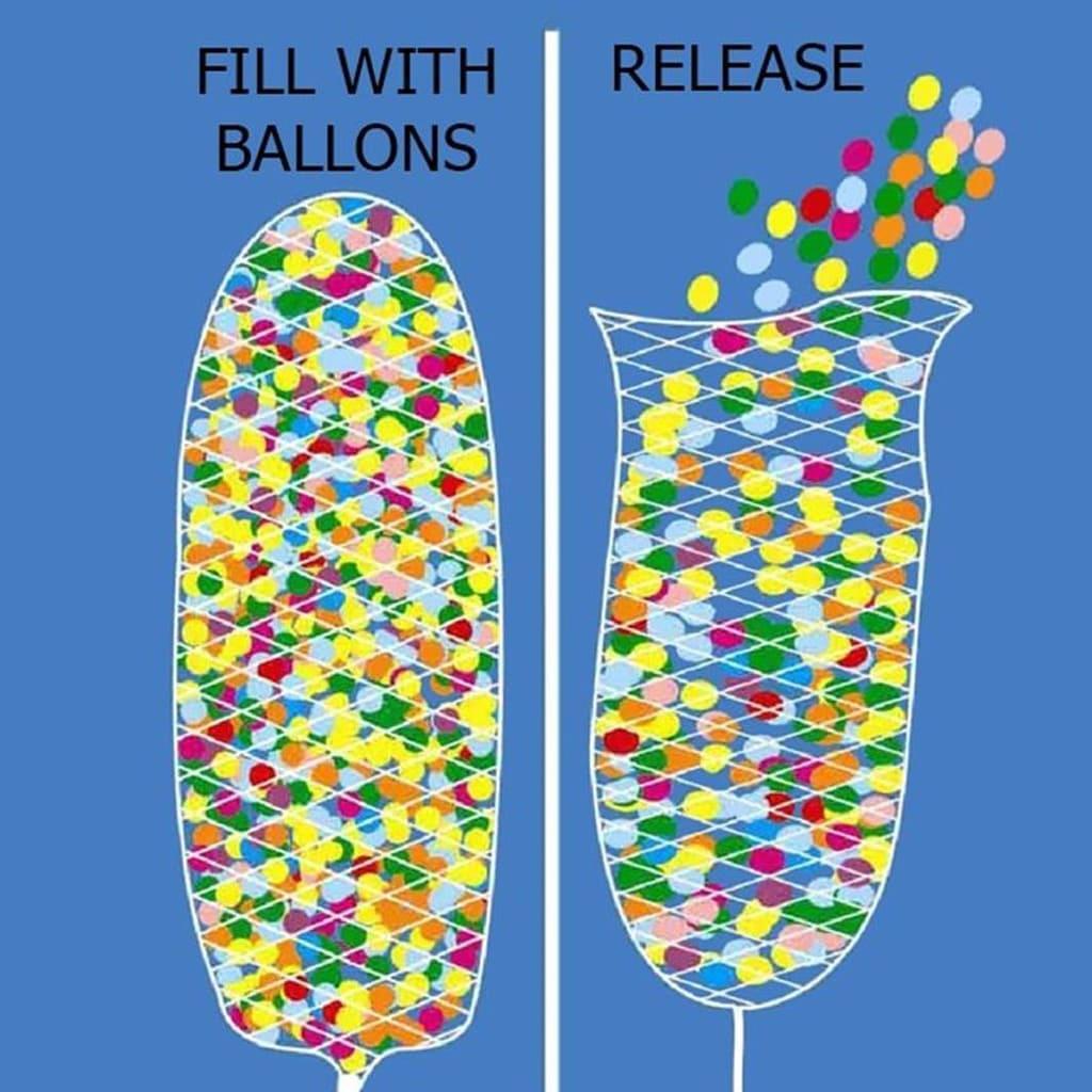 Rede Largada de 200 Balões em Polyester